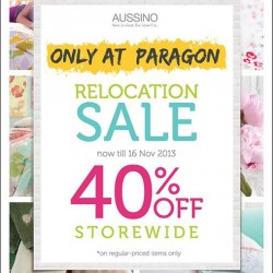 Storewide 40% off! Aussino@ Paragon