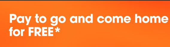 Pay to Go and Come home for FREE at Jetstar