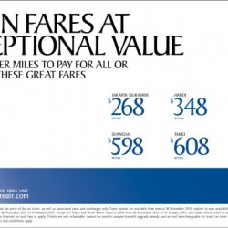 Singapore Airline November Special Offers
