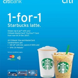 Buy 1 Get 1 Free! Starbucks Latte and More