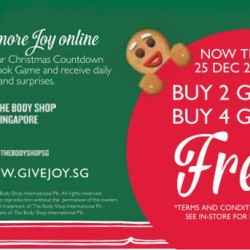 Buy 2 get 1 FREE  Buy 4 get 2 FREE at The Body Shop