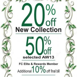 20% OFF New Collection, 50% OFF Selected items! FCUK