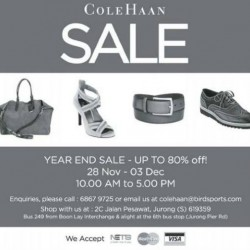 Up to 80% OFF! Cole Haan Warehouse Sale