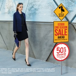 Up to 50% Off! G2K members get additional 20% off at G2000
