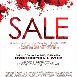 Big Discount! Shiseido End of Year Sale is Finally Here!
