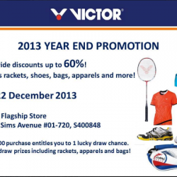 Up to 60% Off Discount! Victor Year End Promotion, December 2013
