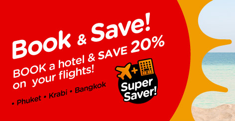 AirAsiaGo: Book A Hotel & Save 20% On Flights Promotion