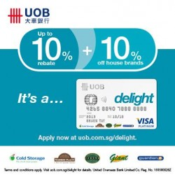 UOB Delight Credit Card Singapore Promotion January 2014