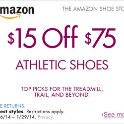 Amazon Athletic Shoes Promotion