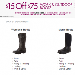Work & Outdoor Boots Promotion