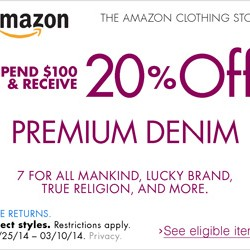 Amazon Premium Denim Promotion Code