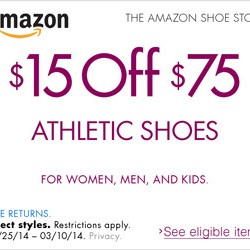 Amazon Athletic Shoes Promotion 2014