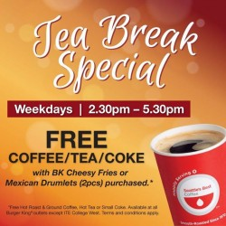 Burger King Singapore Tea Break Special