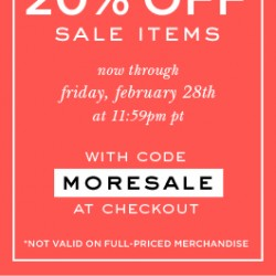 Kate Spade USA Sale items Additional Promotion Feb 2014