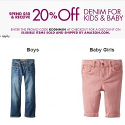 Amazon Denim for Kids & Baby Promotion Feb 2014