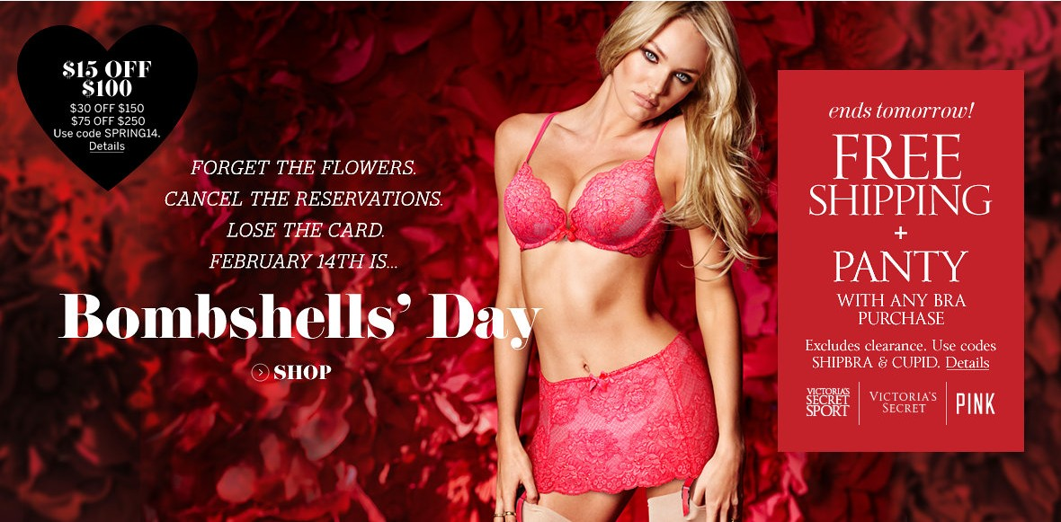 victorias secret valentines day sales