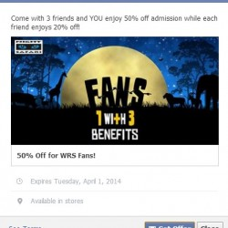Night Safari Facebook Fan Promotion March 2014