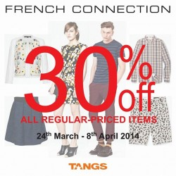 French Connection Singapore   30% OFF All Regular Priced Items