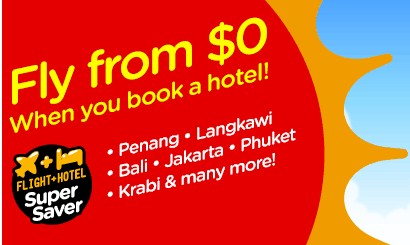 AirAsiaGo: Fly from S$0 when you book a hotel