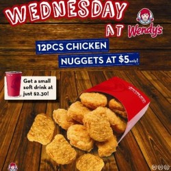 Wendy's Singapore | Wednesday 12pcs Chicken Nuggets Promotion