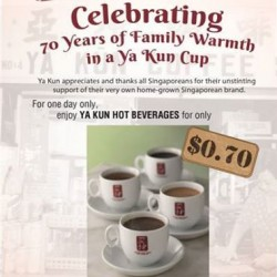 Yakun 70th Birthday Promotion