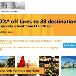 TigerAir | 50% OFF Airfare Promotion