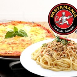 "Deal.com.sg | PastaMania: Indulge In 1 x Pasta or 1 x 7"" Pizza & 1 x 16oz Drink"