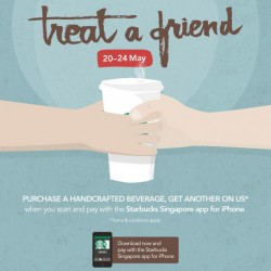 Starbucks Singapore | 1-For-1 Beverage -- Scan & Pay with iPhone App