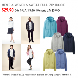 Uniqlo Singapore | Sweat Full Zip Hoodie Promotion