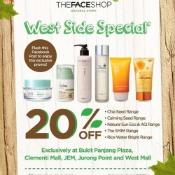 TheFaceShop | West side promotion 20% off discount
