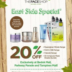 TheFaceShop | East side 20% off promotion
