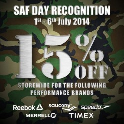 Royal Sporting House | 15% off selected brands SAF day promotion