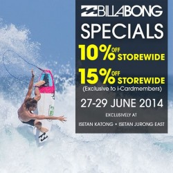 Billabong | Isetan specials up to 15% off