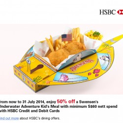Swensen's | 50% off Kid's meal with HSBC cards