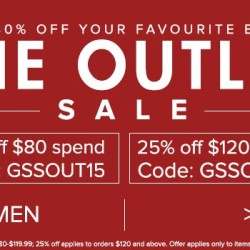 ZALORA | outlet sale additional 15% and 25% off coupon code
