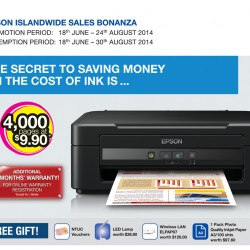 Epson | Island-wide Printer Sale Bonanza 2014