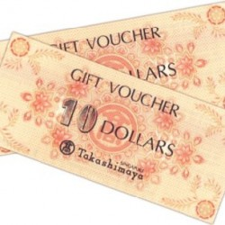 Takashimaya | Free $20 voucher with $200 spent.