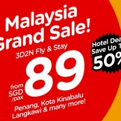 AirAsia | Malaysia Grand Sale Flight+Stay packages
