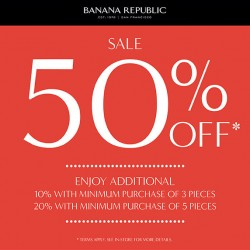 Banana Republic | Mid-year sale fixed 50% off selected items