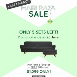 Castlery |New Hanford Sofa + Free Ottoman Promotion