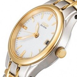 "Amazon | Citizen Women's EW1264-50A ""Eco-Drive"" Silhouette Two-Tone Stainless Steel Watch"