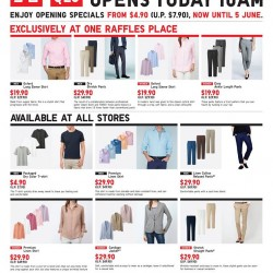 Uniqlo Singapore | One Raffles Place opening promotion