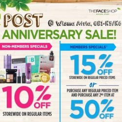 TheFaceShop | Post Anniversary sale up to 50% off