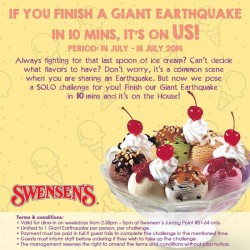 Swensen's | Finish the Giant Earthquake in 10 minutes challenge