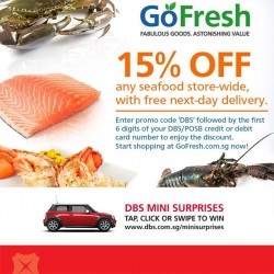 GoFresh.com.sg | 15% off seafood with DBS cards
