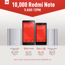 Xiaomi | 10,000 sets of Redmi Note for sale @$199