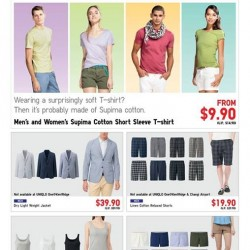 Uniqlo | weekly special buys Supima Tee @$9.9