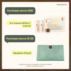 innisfree | free Eco Science White C kit with purchase