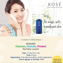 Kose | Free Entry to Kose Tea party launch @ BHG Bishan