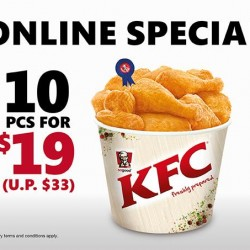 KFC | Delivery special 10pcs chicken for $19